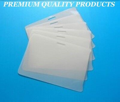 100 Id Badge Laminating Laminator Pouches Sheets 2.56 X 3.75 5 Mil With Slot