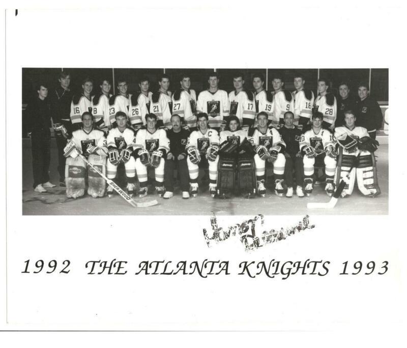 1992 Atlanta Knights Hockey Team Photo Autographed Manon Rheaume Smudged