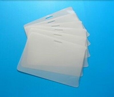 50 Id Badge 5 Mil Laminating Pouches Laminator Sleeves With Slot 2.56 X 3.75