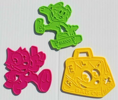 FELIX THE CAT Stencils Skateboarding~Bag Of Tricks~Running Rub-On-Set Wendys Toy