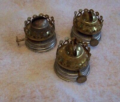 Antique Vintage Kerosene Oil Metal Brass Burner Light Lamp Parts Three  #U-10