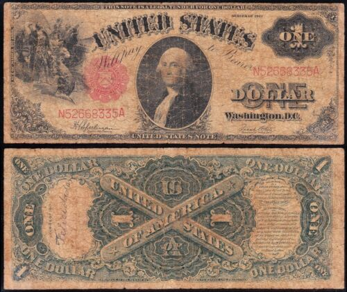1917 $1 SAWHORSE Legal Tender US Note! FREE SHIPPING! N52668335A