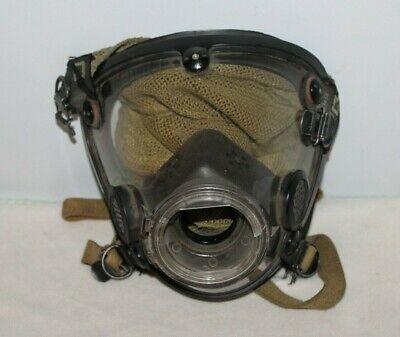 Scott Av-2000 Scba Mask Unknown Size Facepiece Vintage Green Fire Respirator