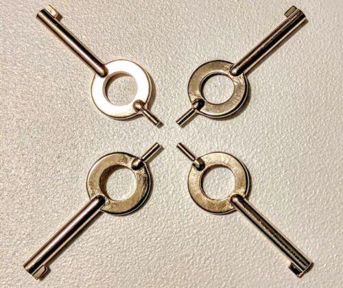 Universal Handcuff Keys - S+W, Peerless, Hiatt, etc...  4pc Lot - NEW!!