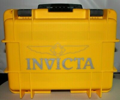 Invicta Waterproof Dive Protective Case 8 Slot Yellow / Gray Dry Box Lockable