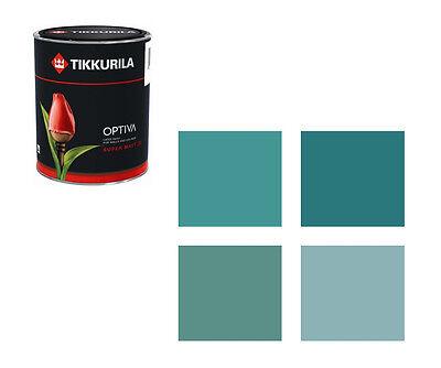 (18,90€/L) Tikkurila Wandfarbe Optiva - 1 Liter - Farbtöne türkis Markenqualität