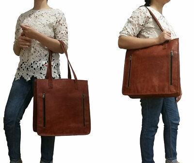 Tote Womens Große Handtasche (Womens Umhängetasche Aus Echtem Leder Reise Handtasche Große Braun Damen Käufer)