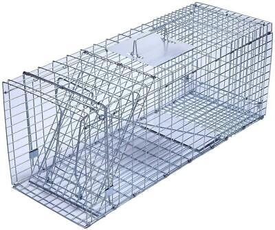 Trapro Large Collapsible Humane Live Animal Cage Trap For Raccoo Opossum, Cat,