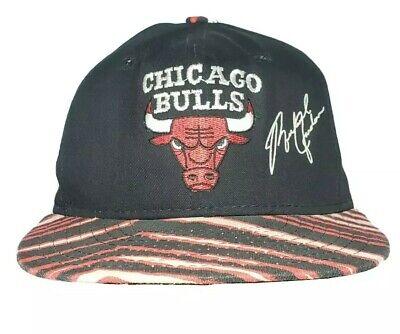 Vintage Zubaz Chicago Bulls Michael Jordan Snapback Hat Cap Rare