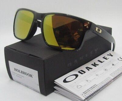 Oakley Polished Black 24K Iridium Holbrook Oo9102 E355 Sunglasses New In Box
