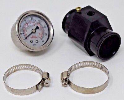 Water Hose Coolant Temperature Sensor Hose Adapter W/ Pressure Gauge 26mm Univer