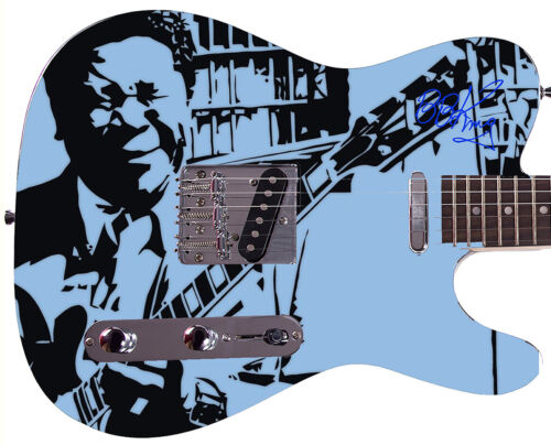 BB KING Autographed Photo Guitar