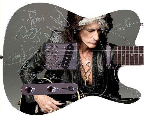 AEROSMITH Autographed Signed Photo Guitar Joe Perry Live Concert Poste