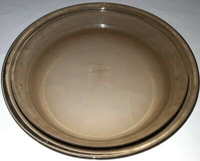 3 PYREX Pie Dishes 221 Clear 9