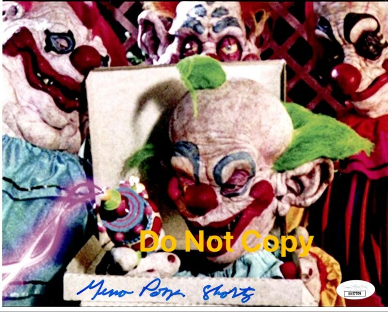 GENO PONZA signed 8x10 Photo Killer Klowns from Outer Space Shorty Horror JSA