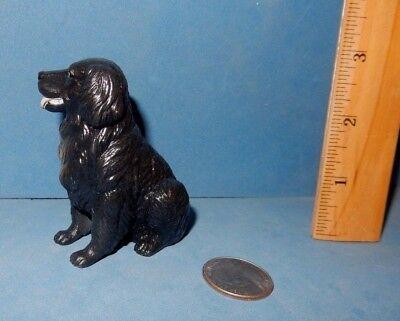 BLACK  FLAT COATED  RETRIEVER DOG BREED FIGURINE FIGURE SOFT RUBBER NEW RAY