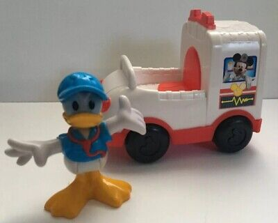 Mickey Mouse Clubhouse Donald Duck Save The Day Ambulance Vehicle Toy Figure Set