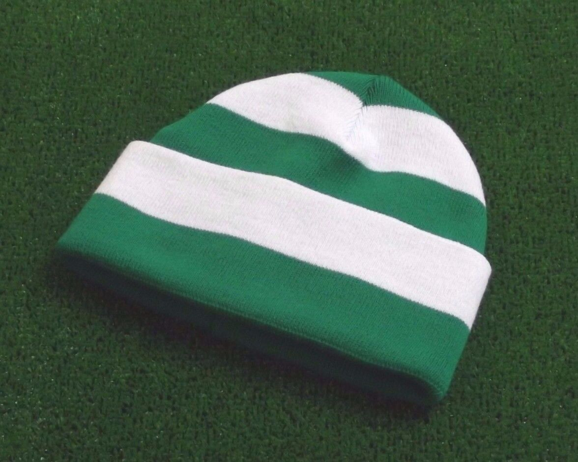 Celtic Colours Retro Bar Hat - Emerald and White - Made in UK