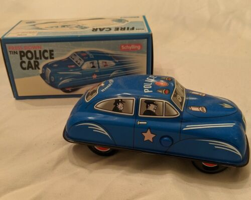 Schylling Press Down Tin Police Car Schylling Collector Series New in Box