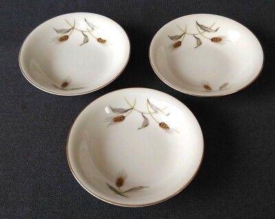 "Vintage Empress China Seyei Japan ""Golden Wheat"" 5 1/2"" Small Bowls Set of 3"