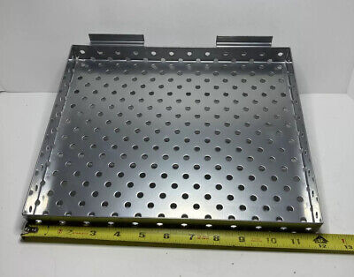 Slatwall Perforated Shelf 2 Pack 12 X 10 W X D Stainless New Open Box