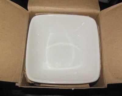 Syracuse China Porcelain High Alumina Tableware 13-12 Oz. Sq. Bowl White