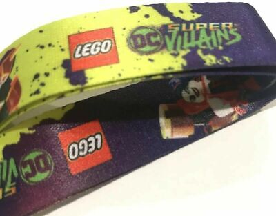 NEW 2018 LEGO DC Comics Super Villains Lanyard Promo Keychain ID Holder Expo
