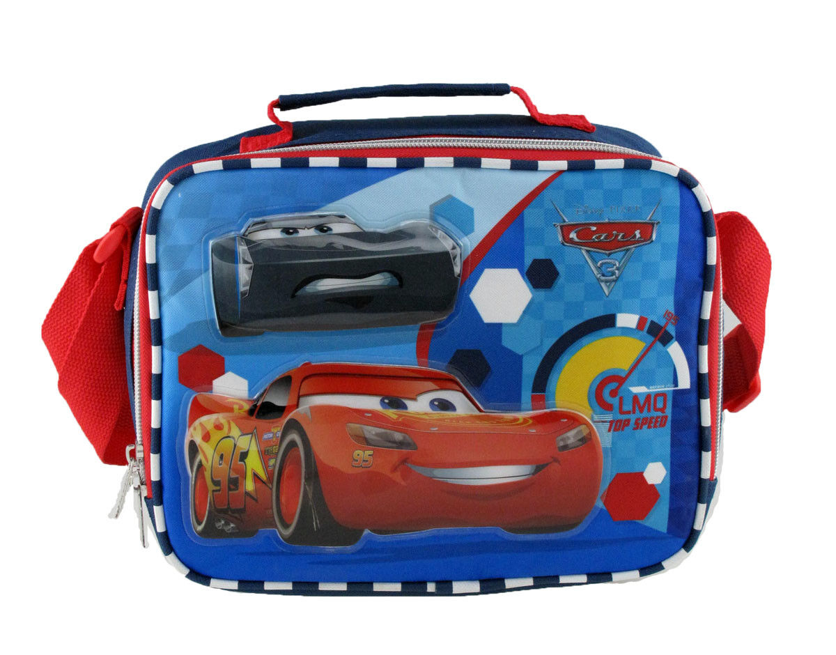 Disney Cars Insulated Lunch Bag with Shoulder Strap Lunch Bo