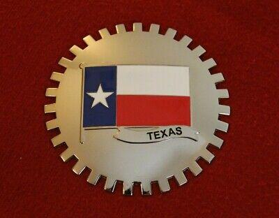- Texas Flag Grille Badge Bumper License Topper Accessory Chrysler Lone Star Mopar