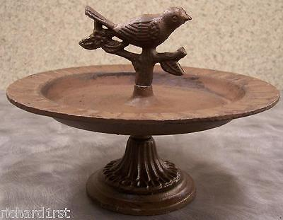 Bird Feeder Stand Weathered cast iron Antique Rust NEW