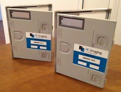 X-ray Film Cassettes 400 Speed Fuji 8x10 Green Sensitive Screens Lot Of 2
