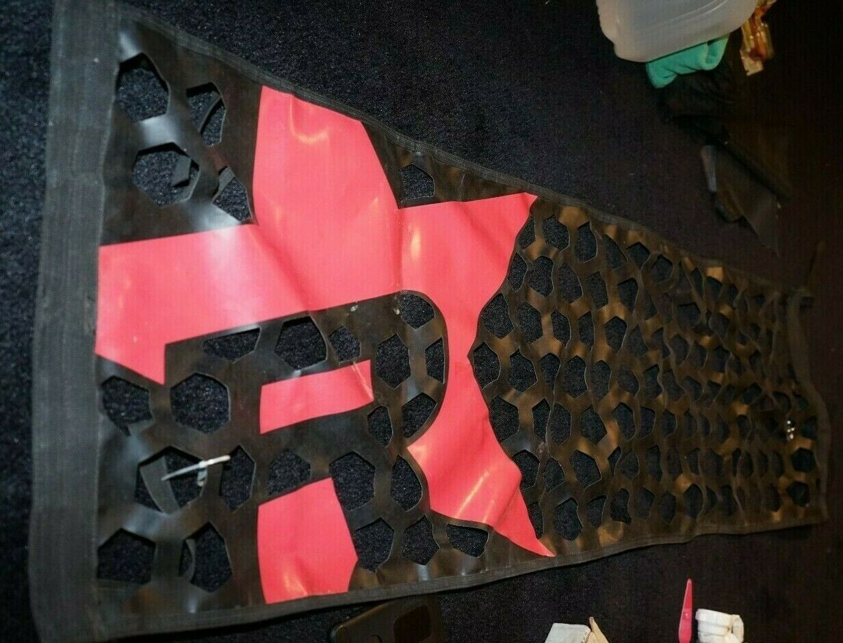 Red And Black Tailgate Mesh Gate For The Back Of Truck See Description - $2.00