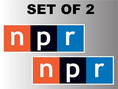 Npr National Public Radio Set Of 2  5 Sizes  Vinyl Sticker Decal