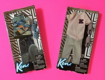 Barbie Fashion Ken Doll Baseball Jersey + Ken Camo Fashion Pack