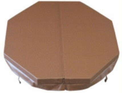 Spa Cover 2745 x 2260 Octagonal with rounded corners -Mocha