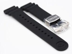 Original Seiko Rubber Band Silicon Strap 22mm  for Samurai  Pepsi Black Gold