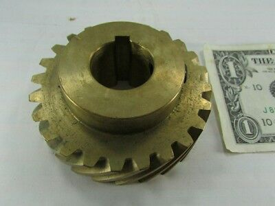 New Boston Gear Brass Helical 1 Keyed Bore 24 Teeth 45 Degree Helix Hb824r