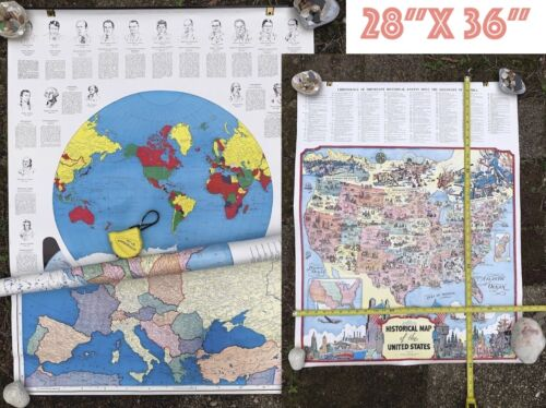 4 MAPS Chronology Historical Events Discovery America Education Presidents World