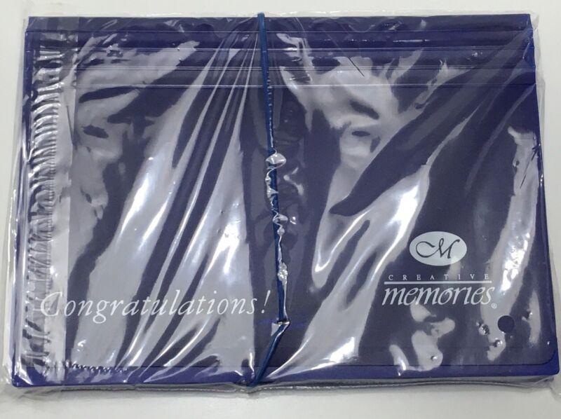 Creative Memories Blue Congratulations Photo File Sticker Holder Tabs New