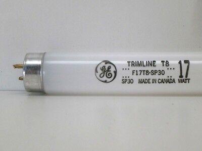(2-Pack) GE F17T8/SP30 Fluorescent Lamp Light Bulb 17W 3000K Warm White 24