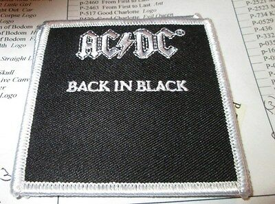 AC/DC COLLECTABLE RARE VINTAGE PATCH EMBROIDED METAL LIVE ANGUS