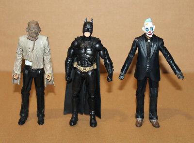 Mattel Batman DARK KNIGHT Crime Scene Evidence Thug Scarecrow & Batman Figures