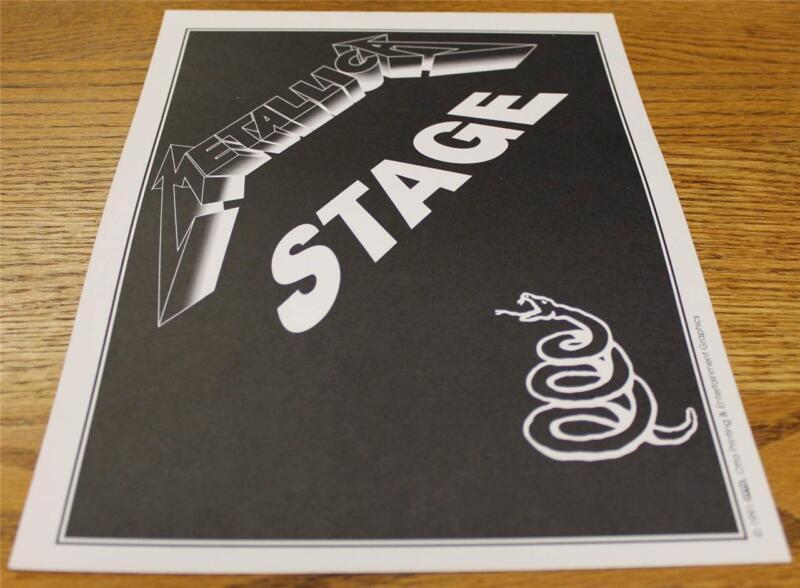 OTTO Backstage Concert Door Sign Metallica STAGE Wherever We May Roam Tour
