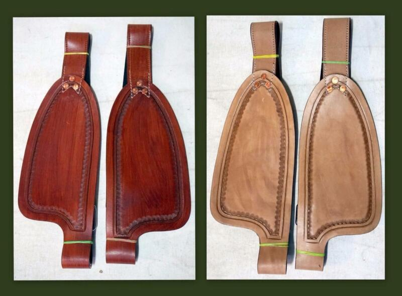 """Medium/ Tan Smooth leather Replacement Fenders for 10"""" Kids Youth Small Saddle"""