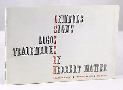 1977 SYMBOLS SIGNS LOGOS TRADEMARKS HERBERT MATTER GRAPHIC DESIGN  PAUL RAND