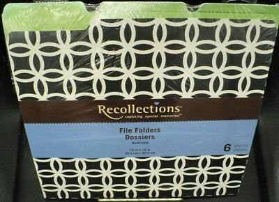 6pk Printed Decorative File Folders By Recollections