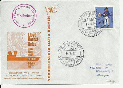 NDL Sonderumschlag SU017  Lloyd Herbstreise 03.10.1966 (DS)