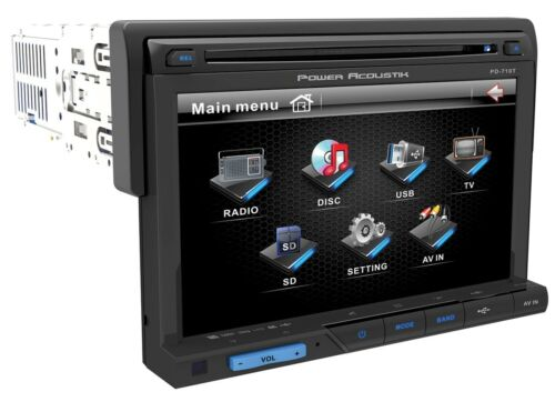 "New Power Acoustik PD-710B DVD/CD/MP3 Player 7"" LCD Bluetooth Front USB SD Card"