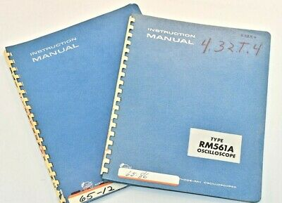 2 Original Tektronix Rm561a Oscilloscope Dual Trace Amp 3a1 Instruction Manual