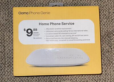 Ooma Phone Genie Home Phone Service OOMAPG 100-0474-100 - New and Sealed BNIB